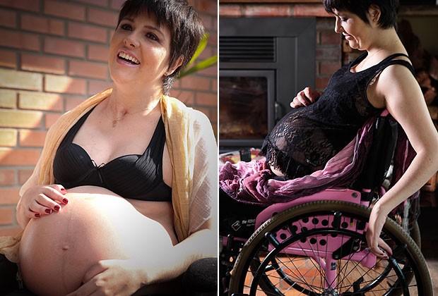 Tetraplégica tem filha de parto normal