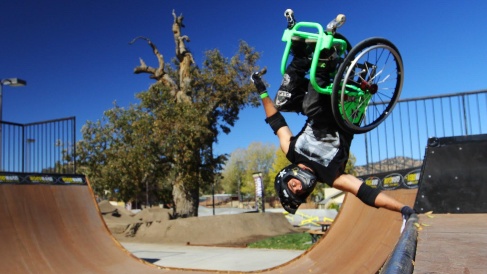 Cadeirante dá salto duplo mortal: 'é mais do que medo, é como se eu fosse morrer'