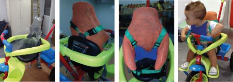 Suporte de tronco para triciclo infantil