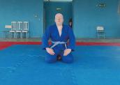 Davi Dias é albino e tem deficiência visual. Jovem pratica judô, futebol de cinco e goalball (Foto: Gustavo Xavier / G1) 172-x-122