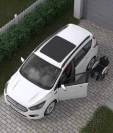 Ford trabalha em cadeira de rodas que entra e sai sozinha do carro