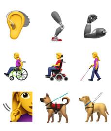 Apple propõe novos emojis para representar pessoas com deficiência