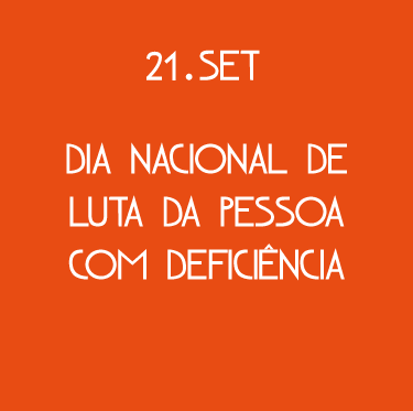 Capa Dia Nacional de Luta das Pessoas com Deficiência